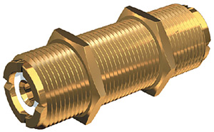 PL258 Gold Plated Double Female VHF Radio Connector