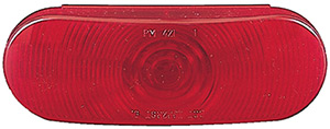Anderson Oval Stop/Turn/Tail Light Only - Red