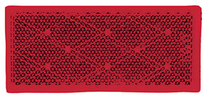 Red Reflector-Stick On 2/Pk
