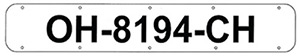 "24"" Boat Registration Plates, White"""