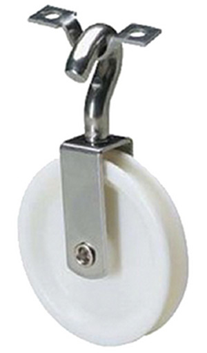 Attwood Tiller Rope Swivel Pulley 4""