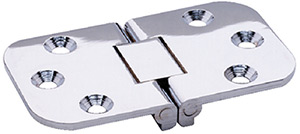 "Attwood Flush Hinge, Square End, Stamped Stainless Steel 2-3/4"" x 1-9/16"""