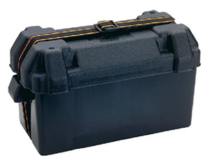 Attwood Large Battery Box, Black, Vented - Fits Group 29/31