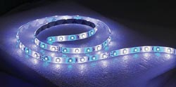 T-H Led Flex Strip Lights, Blue/White