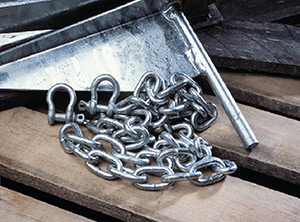 Galvanized Chain & Shackles