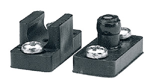 Taylor Black Thermoplastic Door Catches With Ball Stud, Catch and Screws (1 Set)