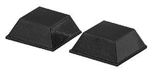 "Taylor Adhesive-Backed Rubber Door Pads 3/4"" x 3/4"" (2 per Pack)"""