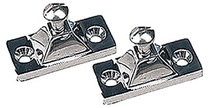 Side Mount Deck Hinge, 2-Hole Stainless. Each