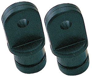 "Internal Eye End, 3/4"" Black, Pair"""