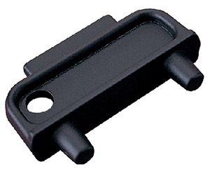 Black Nylon Deck Plate Key