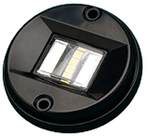 Black Led Round Transom Light