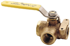 "1"" 3-Way Bronze Diverter Valve"""