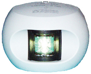 Aqua Signal 33503 Series 33 Led 12v Navigation Light For Power And Sail Up To 65', Stern Side Mount, White