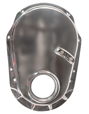 Big Block Chevy Polished Aluminum Timing Cover - Gen 6