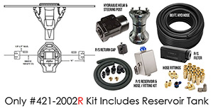 Full Hydraulic Alpha Dual Ram Power Steering - Narrow Kit