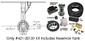Full Hydraulic 9.75 Bravo 1 Drive 1 Ram Power Steering - Narrow Kit