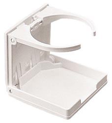 Folding Drink Holder Adj White