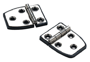 "Short Side Hinge w/Base, 2-1/4"" x 1-1/2"", Stamped SS, Pair"""