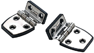"Offset Short Side Hinge w/Base, 2-1/4"" x 1-1/2"", Stamped SS, Pair"""