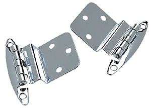 "Seachoice Chrome Plated Brass Inset Hinge 2-3/4"" x 2-1/8"""