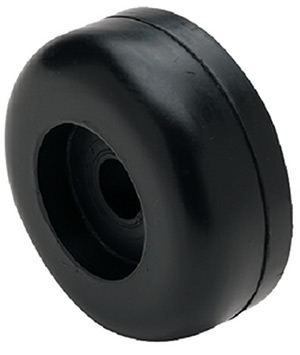 "Seachoice Black Rubber Roller End Cap 3-1/2"" Dia. X 1-1/4"" W With 5/8"" ID"""
