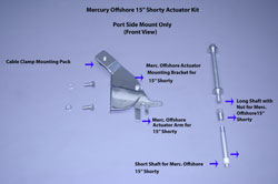 "Mercury Offshore 15"" Shorty Outboard Actuator Kit"