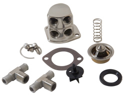 Polished Stainless Ford 429, 460 Thermostat Kit