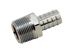 "Chrome Plated Brass 3/4"" NPT Male To 5/8"" Hose Fitting"