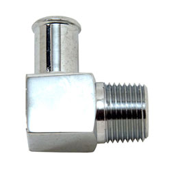 "90 Degree Chrome Plated Brass 3/8"" NPT Male To 1/2"" Hose Fitting"