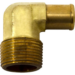 "Chrome Plated Brass 1/8"" x 3/8"" Hose Fitting"