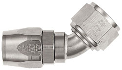 Super Nickel 45 Degree Double-Swivel AN Hose End
