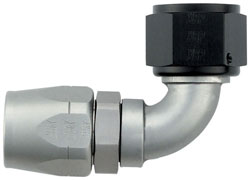 Ti-Tech 90 Degree Double-Swivel AN Hose End