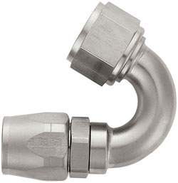 Super Nickel 150 Degree Double-Swivel AN Hose End