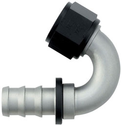 Ti-Tech 150 Degree Push-On Hose End