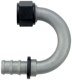 Ti-Tech 180 Degree Push-On Hose End