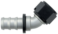 Ti-Tech 45 Degree Push-On Hose End