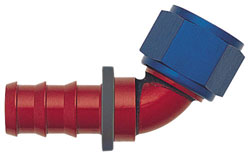 Blue/Red 60 Degree Push-On Hose End