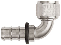 Super Nickel 90 Degree Push-On Hose End