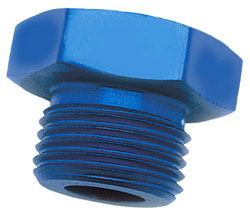 Blue Straight Thread AN Port Plug