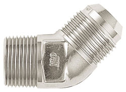 Super Nickel 45 Degree Male AN Flare to NPT Pipe Adapter