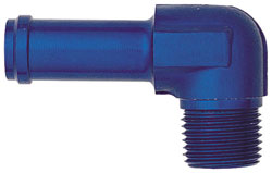 Blue 90 Degree Male NPT to Hose Fittings