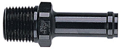 Black Straight Male NPT to SS/Nylon Hose Fittings