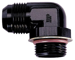 90 Degree Non-Swivel AN Flare to AN O-Ring Boss – Low Profile