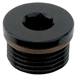 Black Anodized AN O-Ring Boss Hex Port Plug