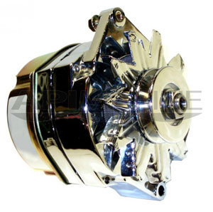 High Output Inboard Alternator 12V 120-Amp Chrome