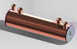 Large Cabin Heat, size:4 x 18, 1779 sq in, copper tubes