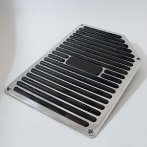 Polished Step Plate with Rubber Insert