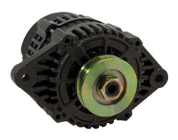 Mando Style Alternator - 12 Volt, 65 Amp, Single Pulley