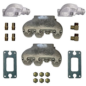 V6 Marine Aluminum Exhaust Manifold System for GM 4.3L