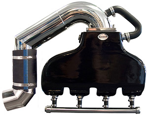 460 Ford Cast Aluminum Exhaust System with Low Port Tailpipes